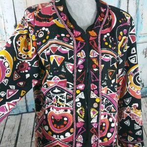 Chicos size 3 beaded embellished multicolor jacket